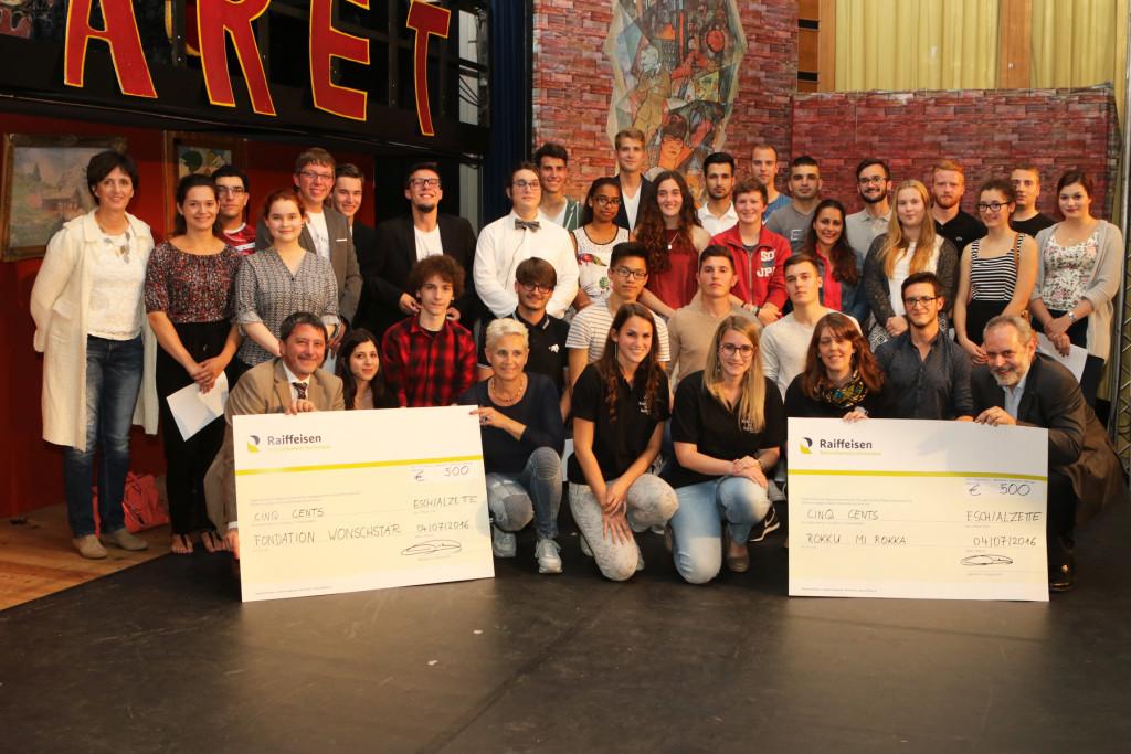 élèves méritants 2016 Mini entreprise Remise chèques Wonschstär + Rokku Mi Rokka