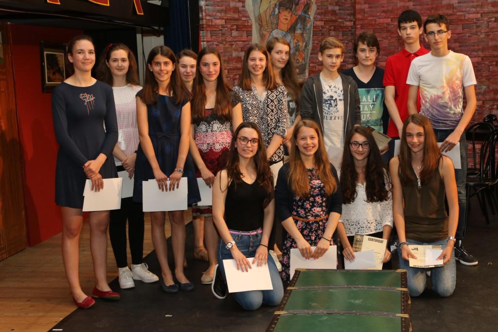 Meilleurs élèves 2016 classes de 6e
