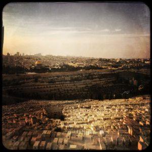 08 Jerusalem Ölberg jüdischer Friedhof und Altstadt (1)