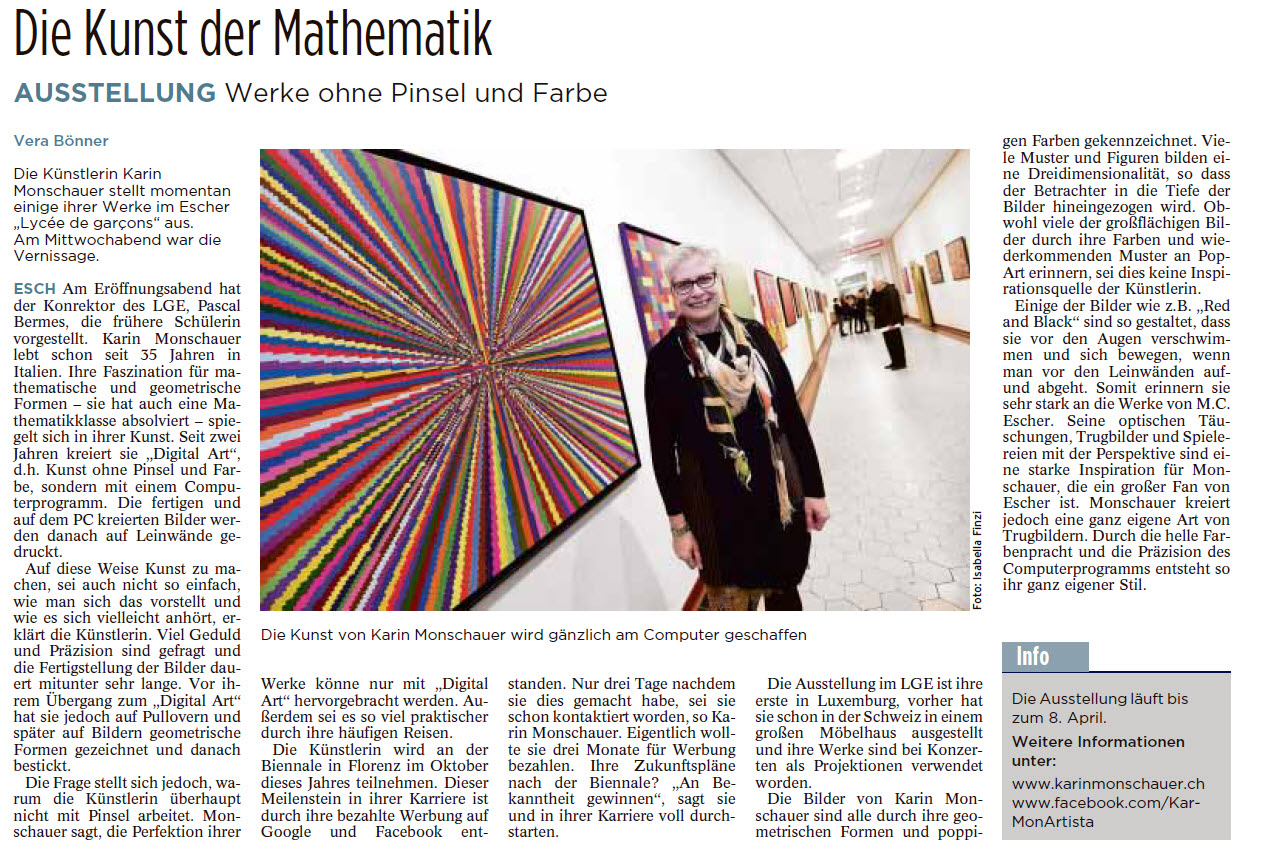 Expo Karin Monschauer 2017 Tageblatt 2